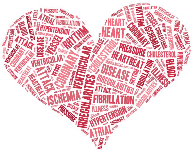 Открытка сердце из слов 328